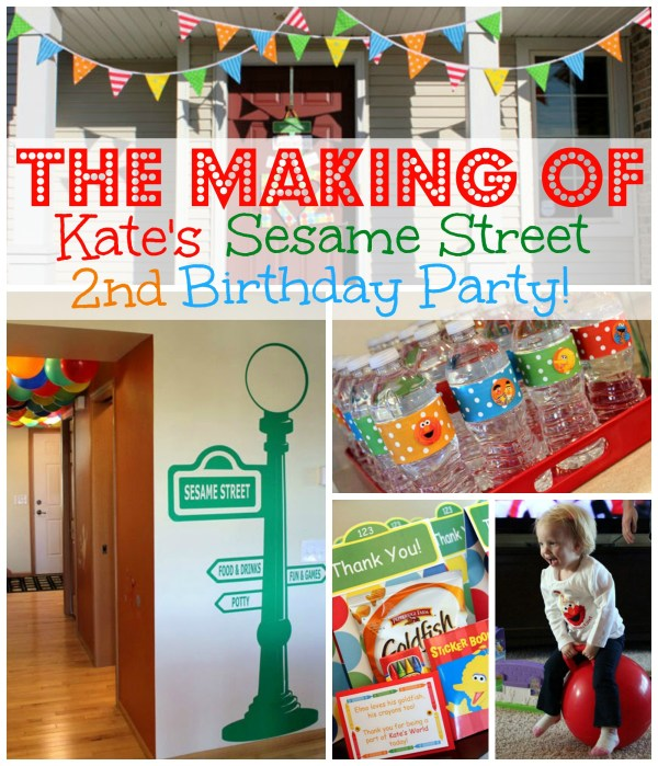 The Making of Kate's Sesame Street Birthday Party - Sesame Street & Elmo birthday party ideas, party decoration and food. | www.allthingsdgd.com