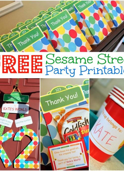 Free Sesame Street Birthday Party Printables | www.allthingsgd.com