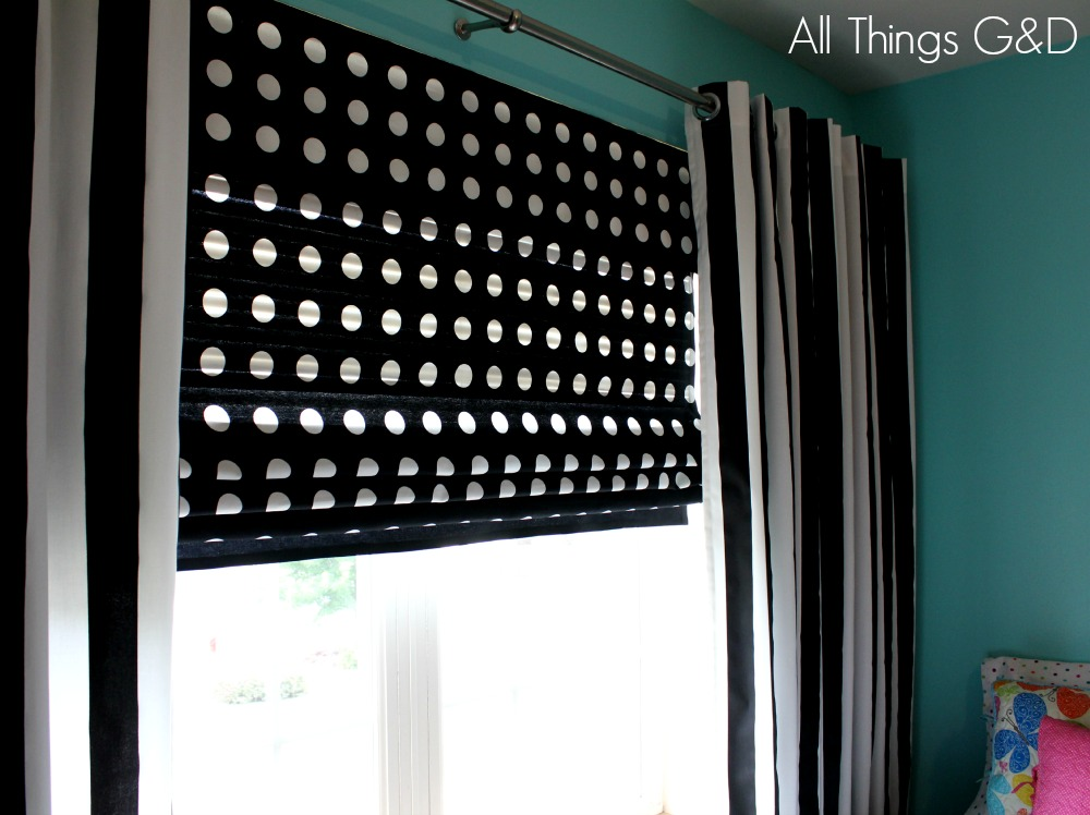 Diy roman shades for wide windows using mini blinds for Roman shades for wide windows