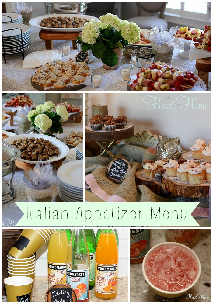Italian Appetizers - All Things Heart and Home - italian menu