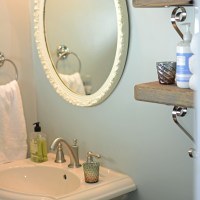 Powder Room Makeover-we moved the bathroom door!