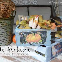 From New to Vintage Crate Makeover!