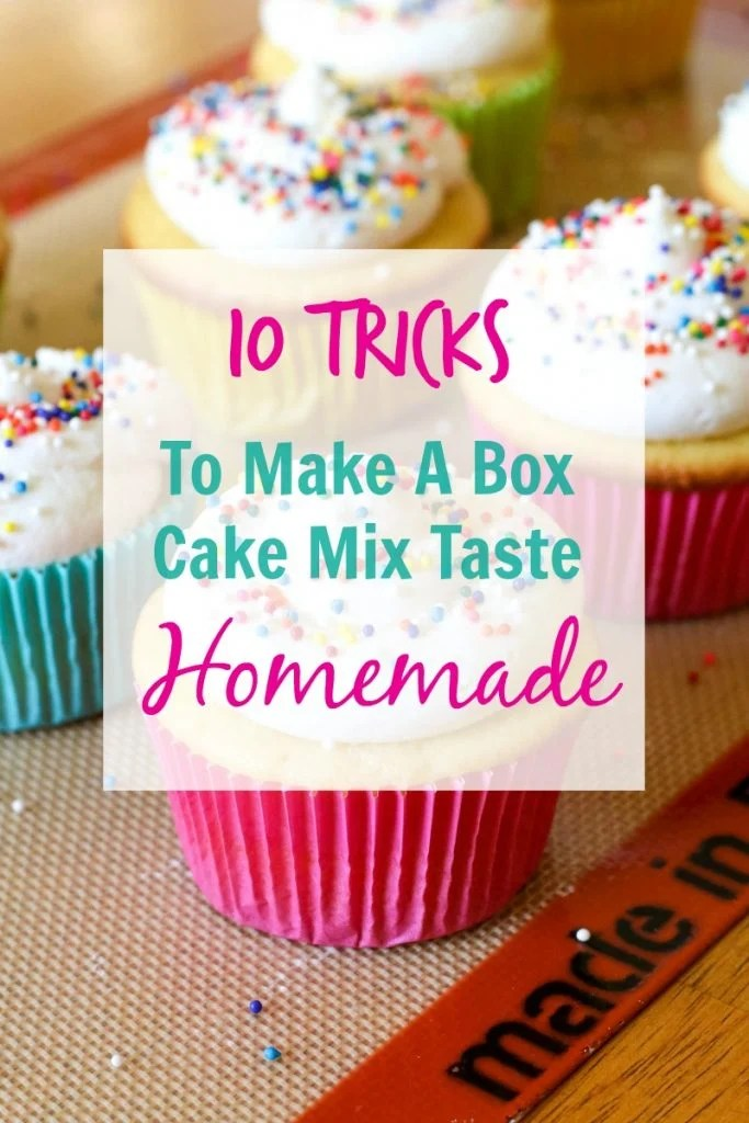 10 Tricks To Make A Box Cake Mix Taste Homemade - All Things Mamma
