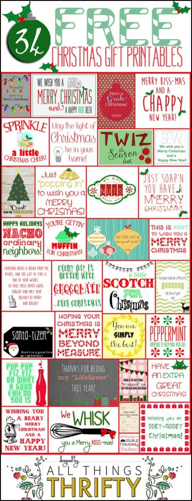 34 Christmas gift ideas with FREE printables All Things Thrifty