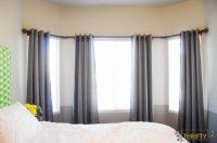 diy bay window curtains | www.myfamilyliving.com
