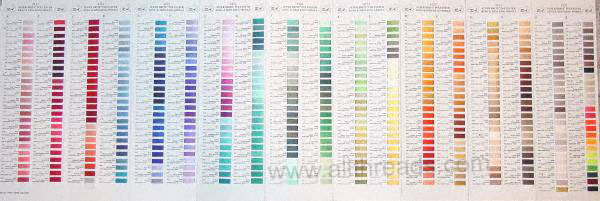 Robison-Anton Embroidery Thread Color Cards - All Threads