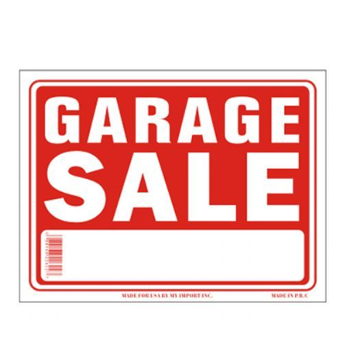 120 Units of Sign 12in by 16in Garage Sale - Signs  Flags - at