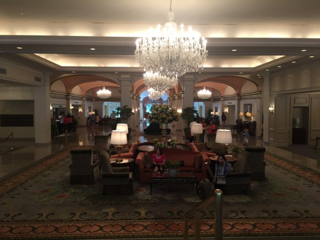 The lobby at the Omni.