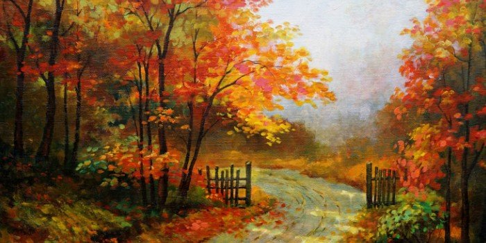 Beautiful Fall Paintings Wallpapers Стихи про осень короткие и красивые для детей в детский