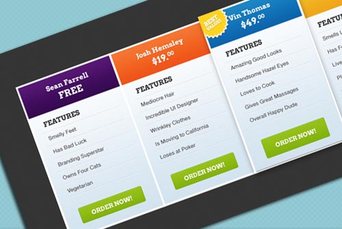 13 Free Professional Pricing Tables Allxnet