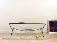 BRAND NEW DESIGNER BENT CURVED GLASS COFFEE TABLE WITH ...