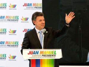 Reeligen colombianos a Juan Manuel Santos en la Presidencia
