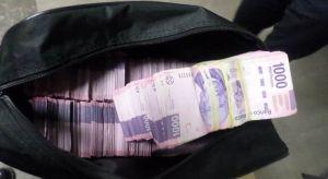 las maletas con billetes