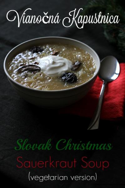 Slovak Christmas Sauerkraut Soup (vegetarian version) - Almost Bananas