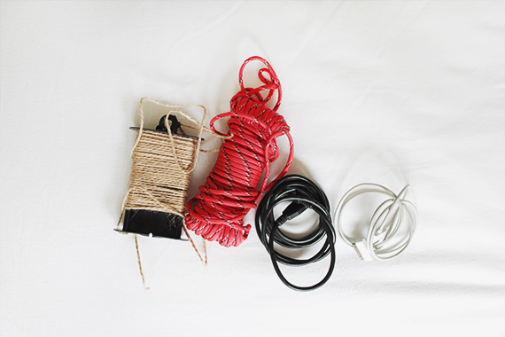 diy wrapped cords via almost makes perfect