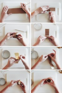 diy gold geo napkin rings - almost makes perfect