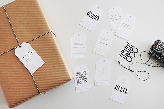 free holiday gift tags - almost makes perfect