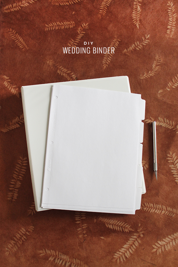 diy wedding binder with free printables - almost makes perfect