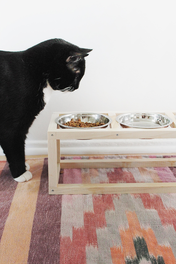 diy wood pet bowl stand | almost makes perfect
