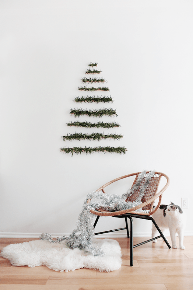 modern wall hanging christmas tree | almost makes perfect
