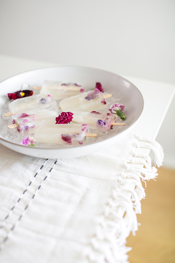 winesicles with edible flowers | almost makes perfect