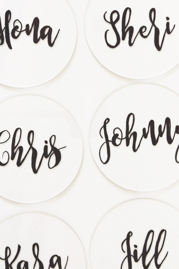 diy plexiglass place cards | almost makes perfect