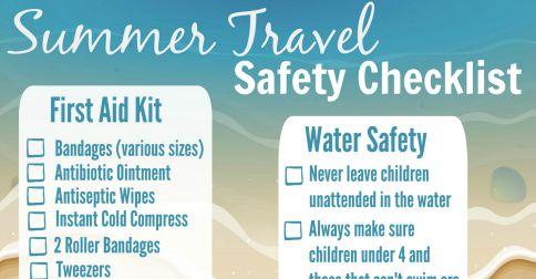 Summer Travel Safety Checklist - Almost Supermom - summer vacation checklist