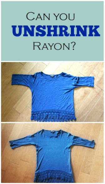 Unshrink rayon cover