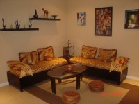 simple moroccan living room |