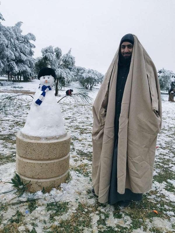 صور رجل الثلج في مواقع التواصل