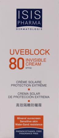UVEBLOCK spf 80 invisible cream