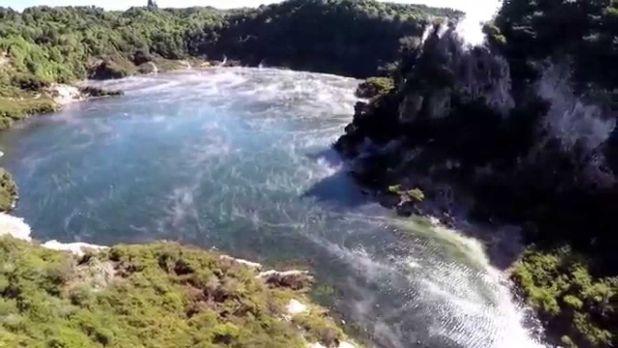 Frying Pan Lake of New Zealand