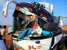 وفاة وإصابة 24 راكب في حادث سير أليم لبص سفري قادم من عطبرة إلى الخرطوم !