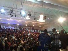 بالصورة: حشود هائلة في حفل زواج نجم الهلال (بشة)