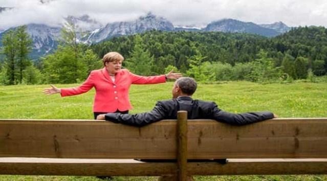 أوباما و ميركيل
