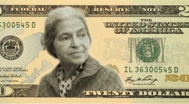صورة امرأة على الدولار