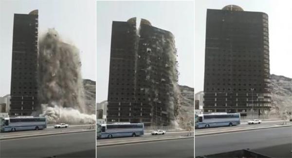 إزالة برج في مكة