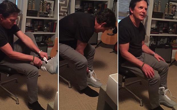 حذاء يربط نفسه بنفسه
