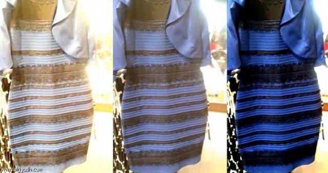 لون الفستان