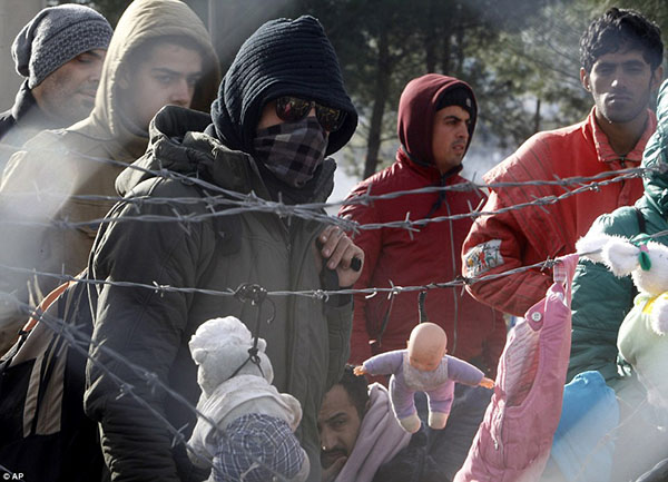 سياج حدودي لمنع انتقال اللاجئين