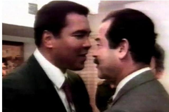 طلب لم يرفضه صدام حسين لمحمد علي كلاي
