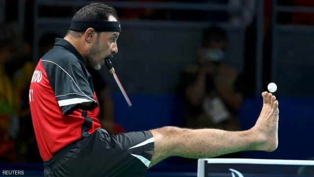 2016 Rio Paralympics - Table Tennis - Men's Singles Class 6 Group D - Riocentro Pavillion 3 - Rio de Janeiro, Brazil - 09/09/2016. Ibrahim Hamadtou (EGY) of Egypt competes. REUTERS/Pilar Olivares FOR EDITORIAL USE ONLY. NOT FOR SALE OR MARKETING OR ADVERTISING CAMPAIGNS.