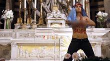 احتجاج لعاريات (فيمن) في إسبانيا من أجل حرية الإجهاض
