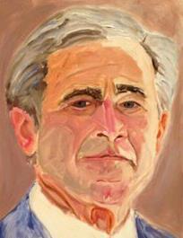 بالصور: جورج بوش يعرض رسومه لزعماء العالم