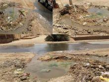 """خطر يربض في الحفر """"ماسورة مكسورة"""" لأكثر من شهر في شارع مستشفي إبراهيم مالك"""