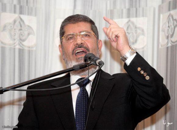 الرئيس المصري د. محمد مرسي يخطب في مسجد النور بالخرطوم بحري - الجمعة 5/4/2013م