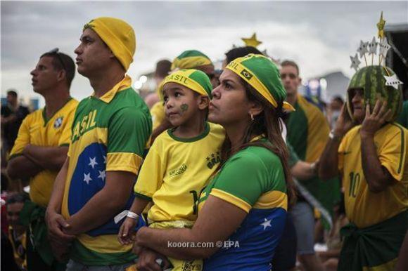 احتفالات مباراة افتتاح مونديال البرازيل