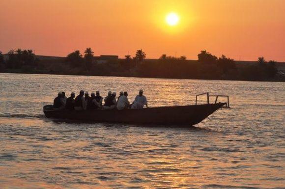 الغروب فى جزيرة لبب  .. شمال السودان -تصوير عباس عزت-سبتمبر 2014