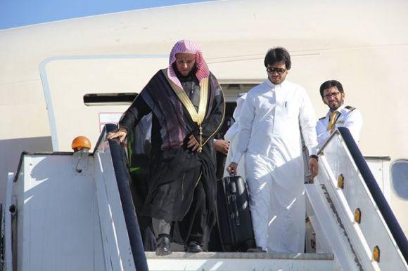 الدكتور عائض القرني يصل إلى السودان-5 ديسمبر-2014