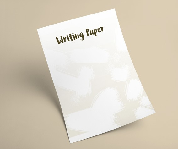 Eco-friendly Writing Paper Printing Order as sets of 4 designs - A
